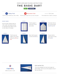 Sample Paper Airplane Printable Instructions