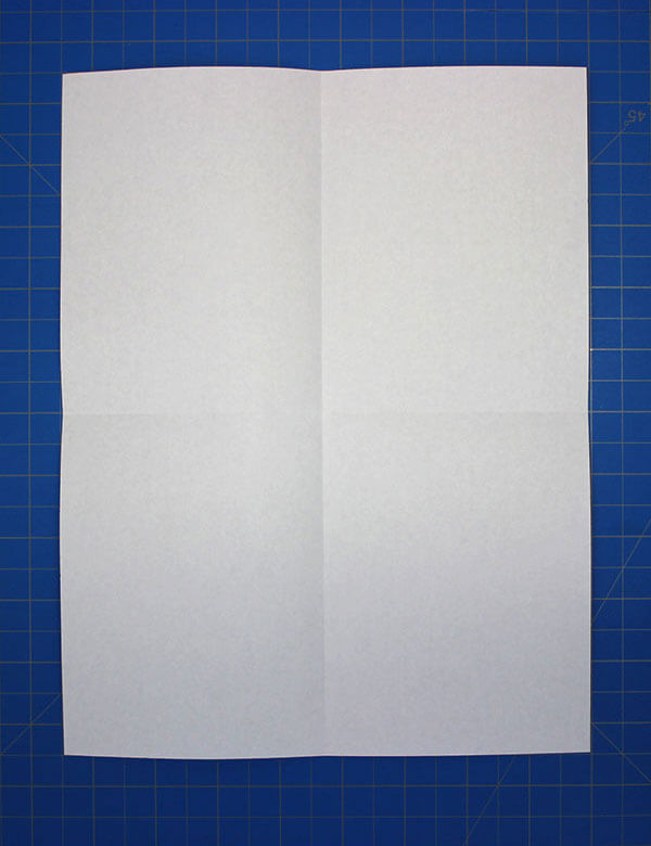 1 Fold The Sheet Of Paper In Half Vertically And Horizontally