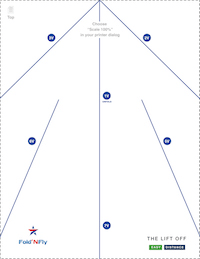 image regarding Paper Airplane Printable referred to as Fold N Fly » Printable Paper Plane Directions